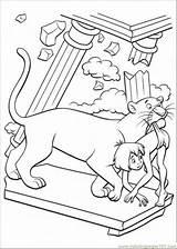 Mowgli Gratuito Immagini Colorare sketch template