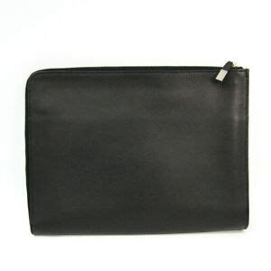 dior homme mens leather clutch bag black bf ebay