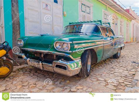 Trinidad, Cuba  September 8, 2015 Old American Car