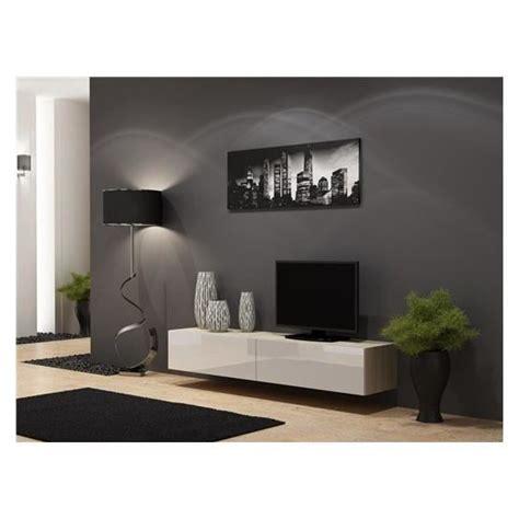 white plasma tv stands meuble tv design suspendu vito 180 bois et blanc achat