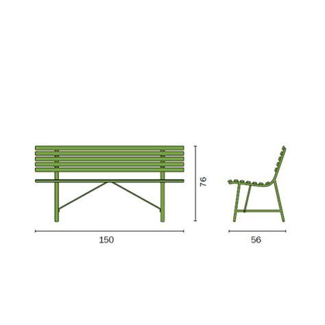 dimensioni panchina panca gallipoli panchina esterno 3 posti 150x58 struttura