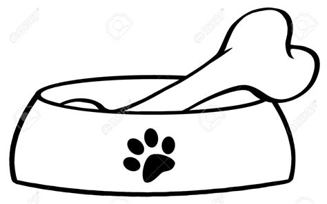 Dog Bone Clipart Black And White | Free download best Dog ...