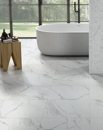 matt white marble effect porcelain wall  floor tile
