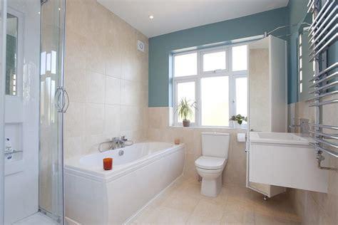 blue white family bathroom design ideas photos