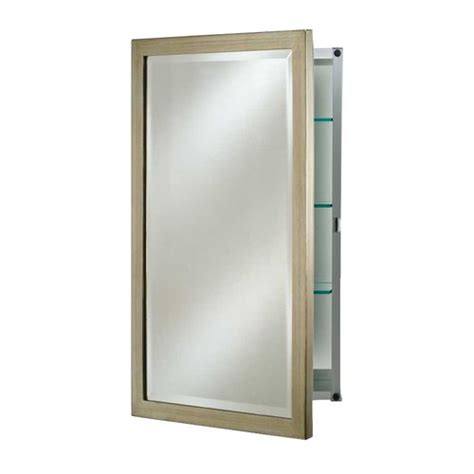 afina basix 24 quot mirrored medicine cabinet brushed silver