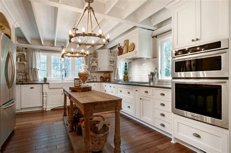 Two Island Kitchens - choosing chandeliers for a traditional kitchen