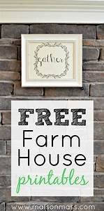 free farmhouse printables o maison mass With kitchen colors with white cabinets with free christmas wall art printables