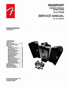 Fender Passport Pd 250 Sm Service Manual Download