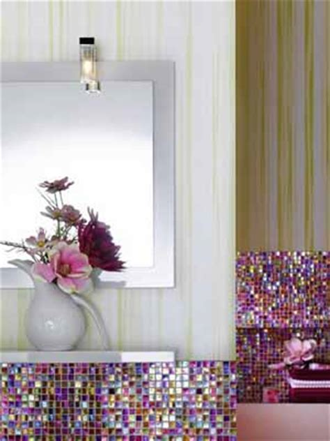 contemporary bathroom decorating ideas bright purple  pink