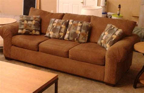 brown corduroy sofa delmarva furniture consignment