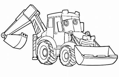Coloring Pages Excavator Lego