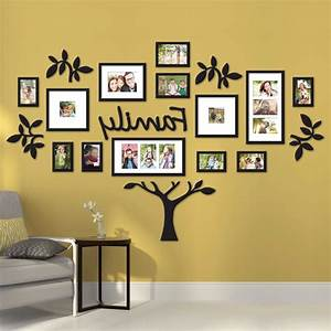 15 ideas of family wall art picture frames With picture frame wall decals inspiration