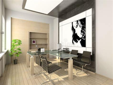 bureau high tech design of modern office hi tech interior stock
