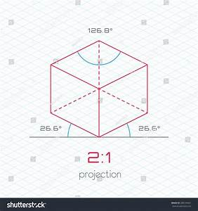 Frame Object Axonometric Perspective 21 Grid Stock Vector