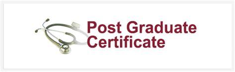 post graduate certificate program