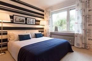 Maritimes schlafzimmer in blau wei for Schlafzimmer blau weiß