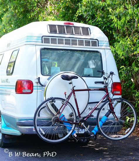 trailer hitch bike rack road test remodeled roadtrek