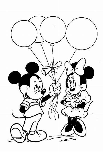 Minnie Coloring Mickey Mouse Pages Printable Sheets