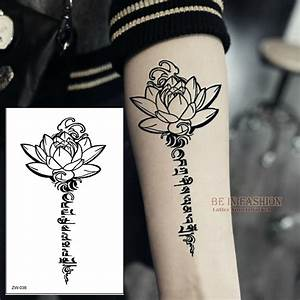 Buddha lotus designs temporary tattoo letters sanskrit for Temporary tattoo letters