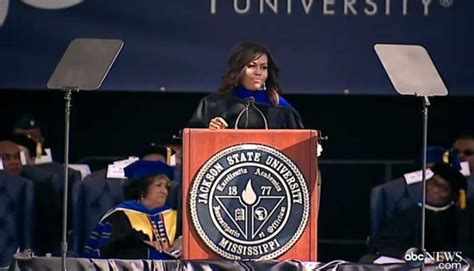 michelle obama delivers jackson state university