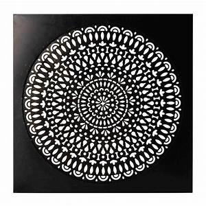 Déco murale en métal noire 110 x 110 cm ESSAOUIRA Maisons du Monde