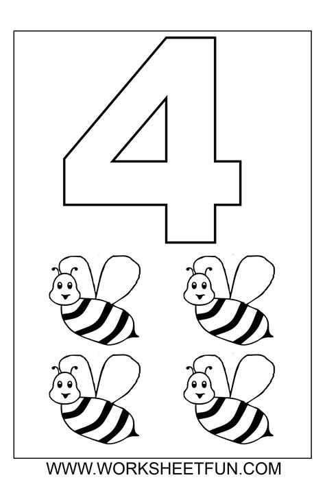 number coloring pages   worksheets  printable
