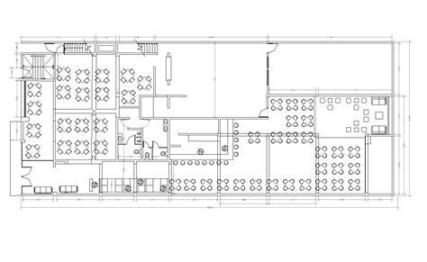 bloc cuisine autocad restaurant design cad layout plan cadblocksfree cad