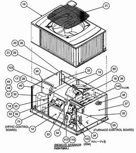 Outside View Diagram  U0026 Parts List For Model 48xt036090300 Carrier