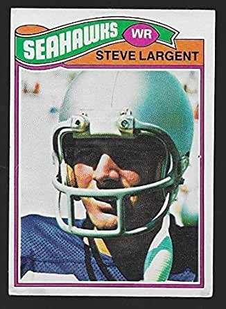steve largent  topps football rookie card