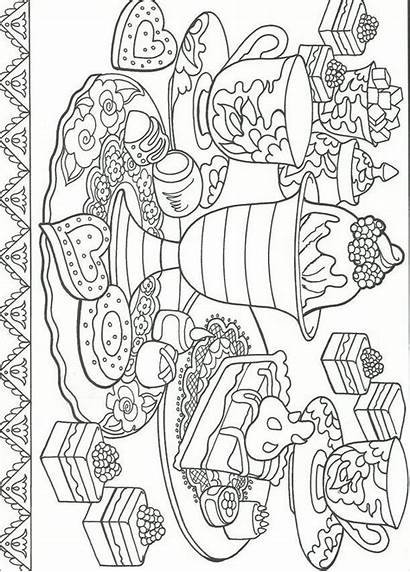 Coloring Pages Printable Colouring Desserts Sheets Adult