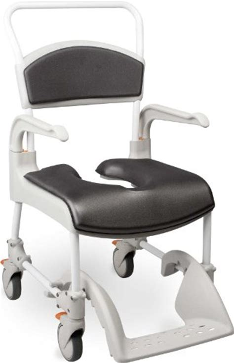 etac clean shower commode chair with comfort pads gray