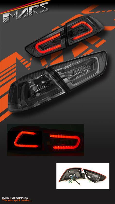 evo x lights varis smoked led lights for mitsubishi lancer cj