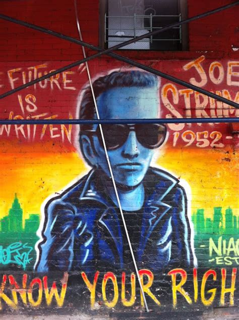 Joe Strummer Mural by Ev Grieve To Hell Keeping A Watchful Eye On The
