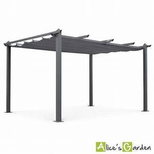 Pergola en aluminium achat vente pas cher cdiscount for Abri de jardin bois pas cher leroy merlin 3 tonnelle de jardin 4 x 4