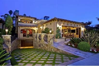Mediterranean Jolla Tuscan Homes Plans Estate Landscaping