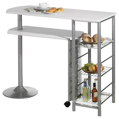 table haute bar cuisine table haute de bar josua mdf décor blanc achat vente