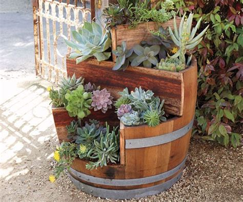 wine barrel planter ideas 19 interesting ways of using wine barrels in home d 233 cor