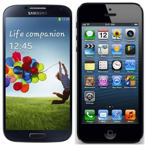 iphone vs galaxy samsung galaxy s4 vs apple iphone 5 in details cars