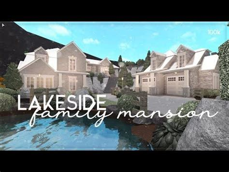 roblox bloxburg lakeside family mansion house build