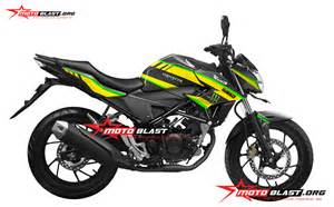 Modif Striping New Cb150r Hitam Merah by Modif Striping Honda All New Cb150r Black Tech3