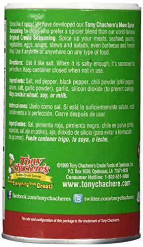 tony chacheres  spice seasoning single oz buy