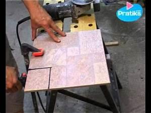 Comment Couper Carrelage Deja Posé : comment d couper du carrelage avec une meuleuse youtube ~ Melissatoandfro.com Idées de Décoration