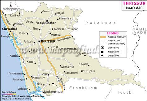 thrissur road map
