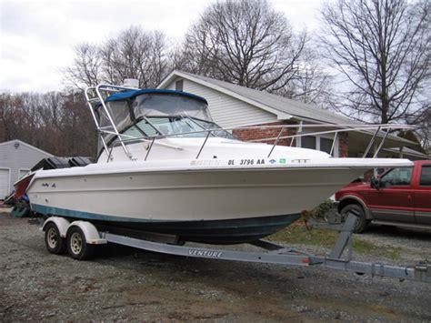 Boat Auctions Ebay by 1990 Sea 23 Cuddy 150 Mercs Fishing Boat Ebay