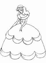 Queen Coloring sketch template