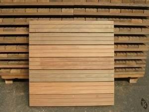 Dalle Bois Terrasse 100x100 : caillebotis bois dalles terrasses en ip 500 x 500 mm tekabois ~ Melissatoandfro.com Idées de Décoration