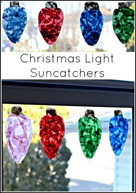 giant christmas light suncatchers christmas craft