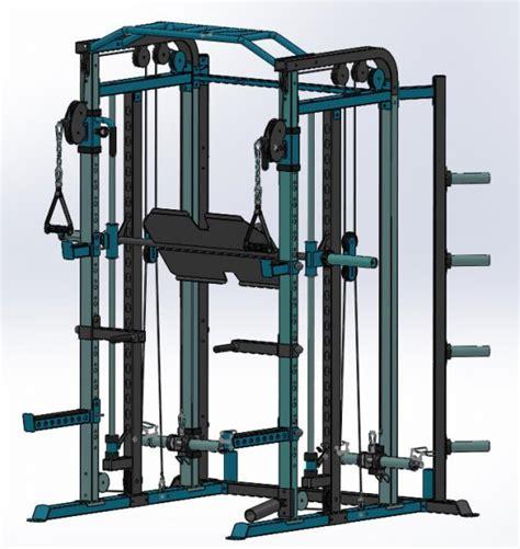 gym africa backbasics functional trainer smith machine  power rack combo