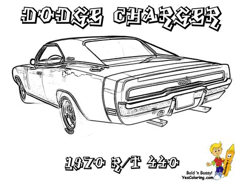 muscle car coloring pages macho muscle car printables
