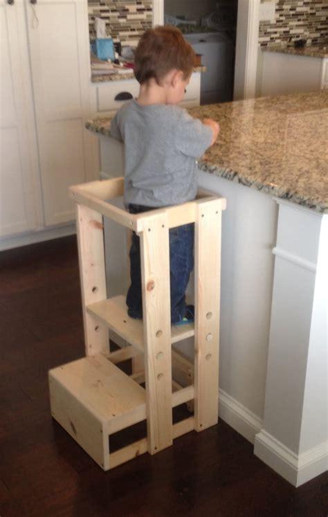 child kitchen helper step stool  teddygramstottowers  etsy